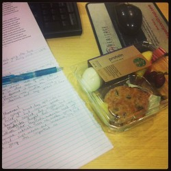 Healthy lunch-dinner box from Starbucks:) #healthy #diet #food #Starbucks #starbucks #follow #instafollow #tasty #homework #work #school #finals  (at Dorms Sierra College)