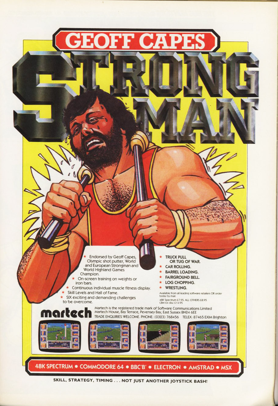 Hey! It's Geoff Capes Strong Man! This guy apparently won worlds strongest man numerous times, and also played Darth Vader for a bit in Empire Strikes Back!  Follow oldgamemags on Tumblr for m