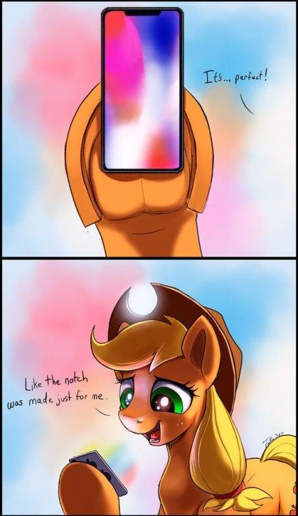 applejack my little pony iPhone x parody drawing tsitra360