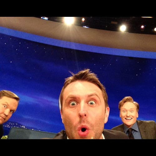 Just 3 happy dudes. #CommercialBreakSelfie #TeamCoco
