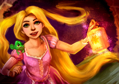 4 hour tangled painting.