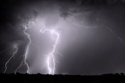 rain-storms:  Stacked Lightning - Frisco, Texas by Kelly DeLay on Flickr.