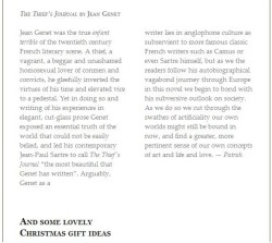 A review of The Thief's Journal by Jean Genet I wrote for Shakespeare & Company in Paris.