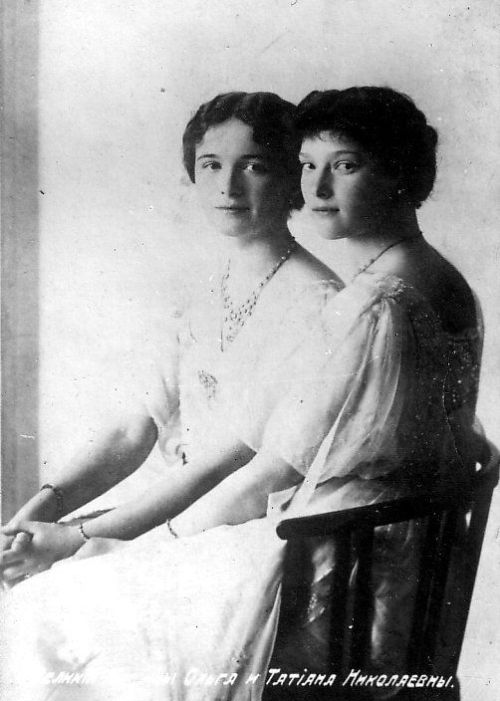 Grand Duchesses Olga and Tatiana: 1913.