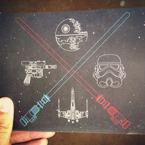 Cool #MayThe4th cards for our clients, designed by @DillanHayes. #starwars #starwarsday #design #graphicdesign #eyespeak (at eyespeak)