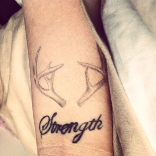 lets make you bigger #tattoo  #stagantlers #strength