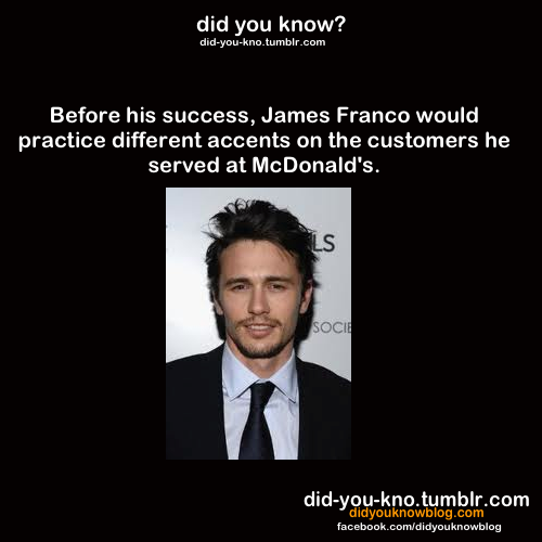 did-you-kno:  Source  Oh My God. I am the next James Franco, I do this to everyone