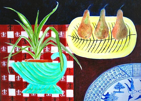 DD McInnes Still Life with Green Shell Vase 2013
