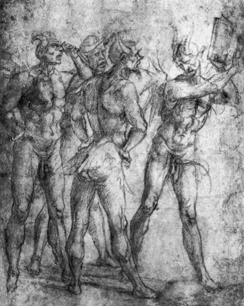 nuclearharvest:  Four Demons with a Book by Luca Signorelli