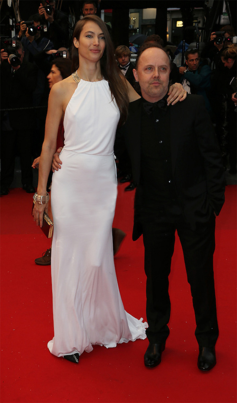 holierthanyou:  Jessica Miller & Lars Ulrich 66th Annual Cannes Film Festival  May 18, 2013