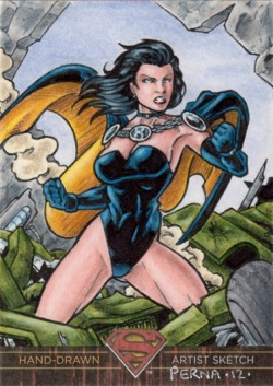 Gorgeous Superwoman sketch card by Tony Perna