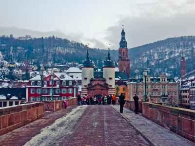 nikosaragon:  Heidelberg in the heart of Winter.
