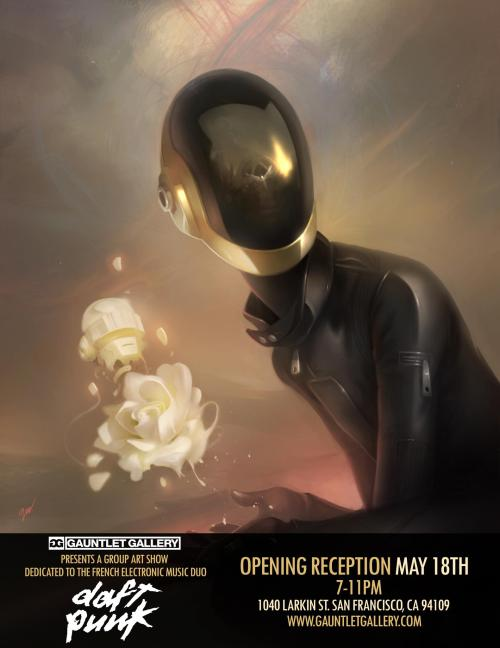 fer1972:  ReDiscovery: An Art Show inspired by Daft Punk at the Gauntlet Gallery: 1. David Greco 2. Justin VanGenderen 3. Andre de Freitas 4. Craig Drake 5. Ruben Ireland Most of the artists are on tumblr!
