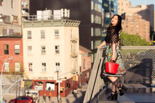 dolcegabbana:  Jinna Yang in Dolce&Gabbana for #DGNYC On the occasion of the opening of the new Dolce&Gabbana's 5th Avenue flagship store we have called upon real New Yorkers to see their interpretations on how the Italian style perfectly matches the Big Apple atmosphere. Photo credits:Mark Iantosca