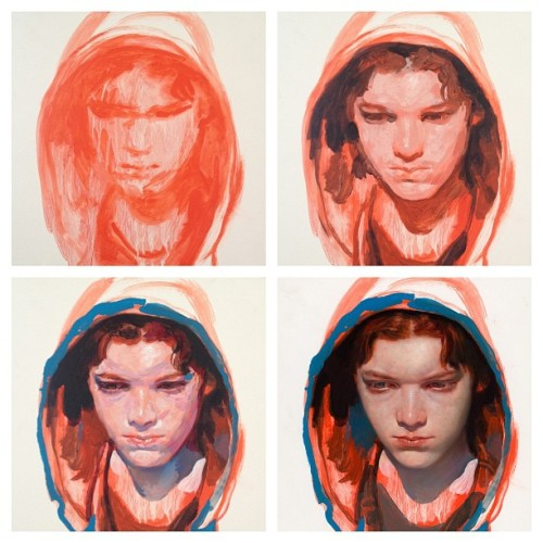 "fuckyeajamesjean:  @JamesJeanArt: Cameron Monaghan, Acrylic and Oil on Wood Panel, 12 x 12"", 2012.#process #jacktiltongallery http://instagr.am/p/UU2WOzNPPm/"