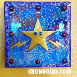 Super Charged Super Star! #mixedmedia  #alteredart #star #chongolio (at Kapa'a, Kauai)