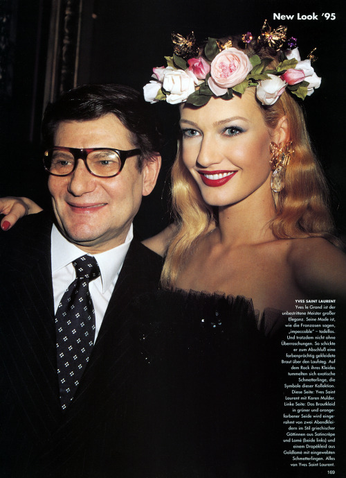 """New Look '95"", Vogue US, 1995Model & Designer : Karen Mulder & Yves Saint Laurent"