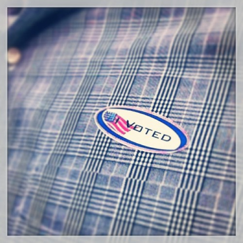 Just made it! #vote #iVoted