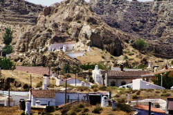 Guadix, in the province of Granada, where more than half of the residents live in cave homes in the Barrio Troglodyte.