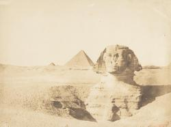 historicporn:  Oldest known photograph of the Great Sphinx of Giza.1849.
