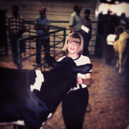 Well this was not my first 4-H showing experience, but it is my first #throwbackthursday #tbt haha not sure which one to hash tag! 🐮❤😊