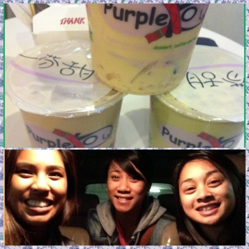 Purple Kow last night with these two lovelies. @jeaaaaans @gahbeast