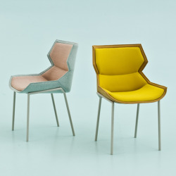 Clarissa Hood armchair and chair by Patricia Urquiola for Moroso