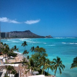 View from auntie lily's room (at Halekulani)