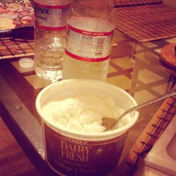 Food of gods, especially after work out! #cottagecheese #diet #water #workout #tasty #delicious #foodporn #follow #followme #healthy #sport