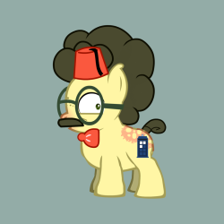 nerdygeekydweeb:  My friends were trying to make me create a Pony for an RP group so I… Dr. Scootaloo Von Fannypack by ~NerdyGeekyDweeb