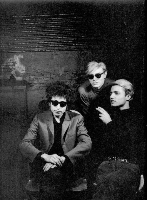theswinginsixties:  Bob Dylan. Andy Warhol.