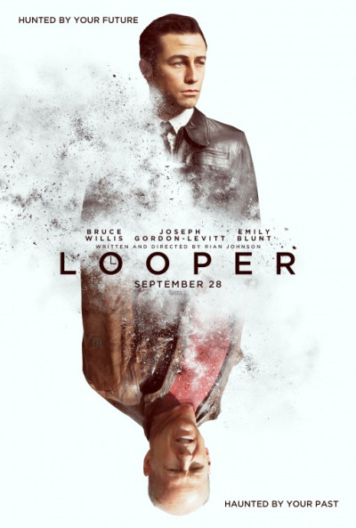 Looper Goes Full Circle!  Just watched the movie Looper in the movie theatre. I was pleasantly surprised. It's a very good movie with some unexpected plot changes and a storyline that's… pretty awesome.   We were expecting to see just that what the trailers would suggest: hired killers who shoot poor bastards sent back from the future. Time travel, hitmen, you get your future self as a mark, shit gets complicated, you fix things, change the future… all is well, yippeekayeey.   Looper turns out to be much, much, more than that. I was impressed with the unexpected turn of events that lead me into an entirely different direction, where the story of the contract killers becomes second bass.  I don't want to spoil the plot bút will tell you one thing that will either raise your eyebrows in a positive way, or will totally mean nothing to you… the first means that we have the same exquisite taste in movies/culture/art and the second means that you're either too young or just like different things. If so, no worries, you are probably a cool guy/gal, just not as cool as the people who know what the fuck I'm talking about :-D  Akira.  Have a great day.
