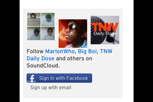 Download some tunes on soundcloud.com/Marlonwho