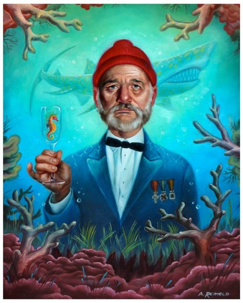 $20 art print now available! Inspired by Bill Murray's role in Wes Anderson's The Life Aquatic, this print is available only until this Friday, after which it will never be made available again!!$20 unframed or $30 framed, each print comes hand numbered and is available now via http://www.thepeoplesprintshop.com/