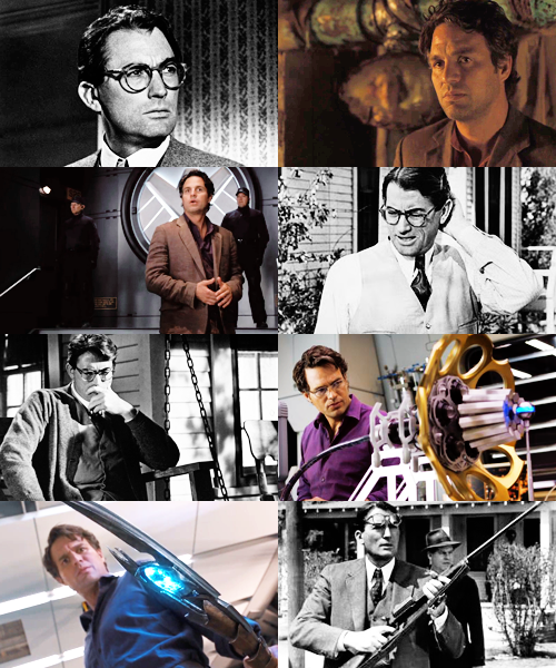 boombangbing:  Recasting the Avengers as a classic movie → Gregory Peck as Bruce Banner (This recast inhabits an alternate universe where all the actors are the right ages at the same time.)