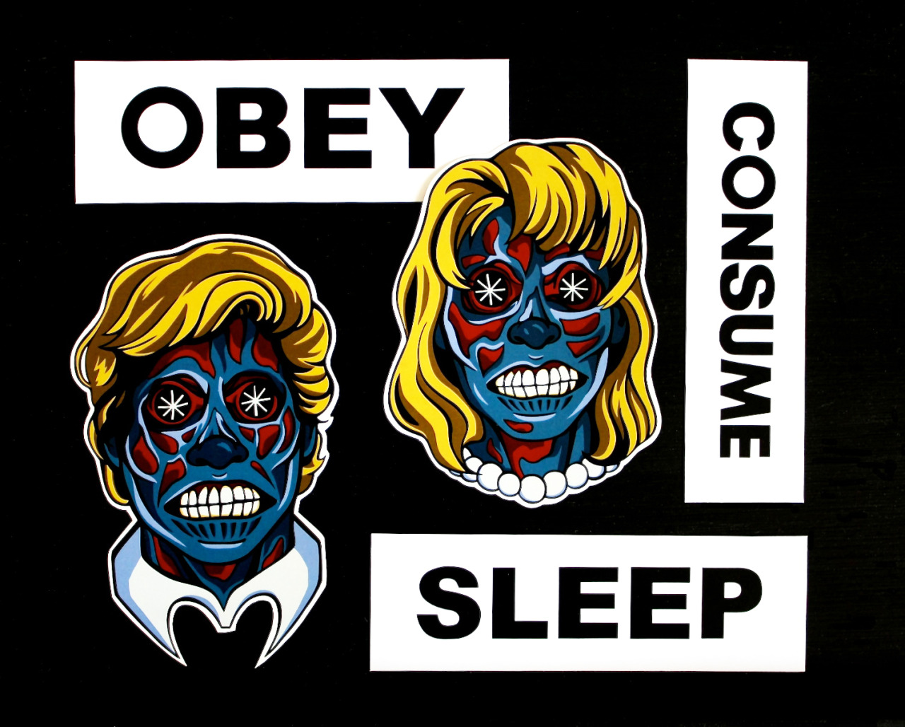 THEY LIVE, WE SLEEP. Newest sticker pack is up in the shop, grab 'em here.