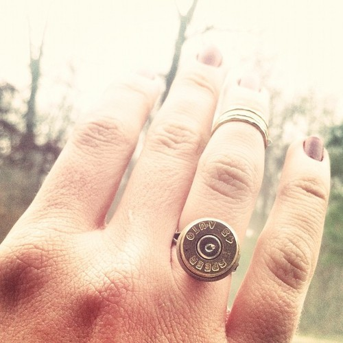 """Now the burn of a bullet is only a scar."" #45auto #ammo #bullet #etsy #diesellacedesign #usamade"