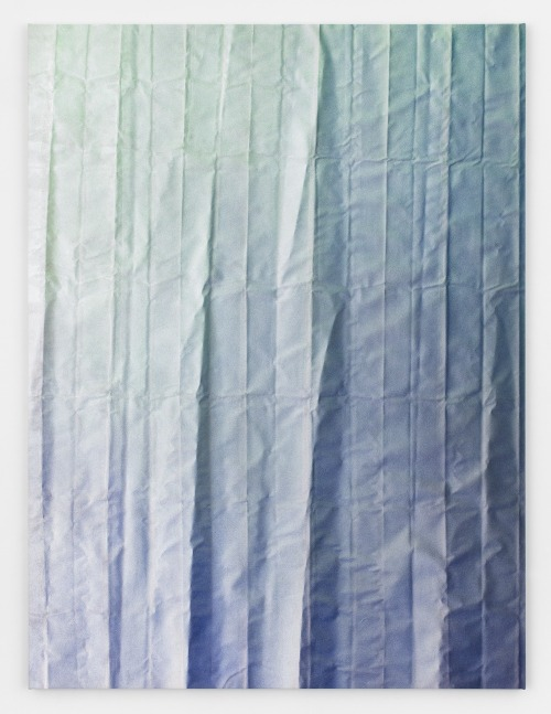 razorshapes:  Tauba Auerbach - Untitled (Fold) (2012) - Acrylic on canvas