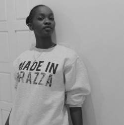 """Made in Brazza"" sweatshirt, from the DiverCity collection by FASHIZBLACK (photo by customer @BaarbieCarter submitted via Twitter). Available here: http://shop.fashizblack.com/collections/diver-city/products/sweatshirt-made-in Take a look at the entire collection on: shop.fashizblack.com"