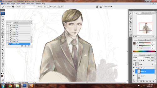 *laughs* I made Hannibal look too bishonen orz. Bonus: forgot to flip horizontal….whatever My laptop screen and pc screen show different color and details… o_o|||