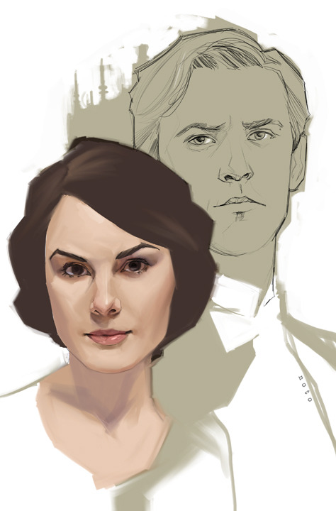 "By The Amazing phil noto:  Downton Abbey's ""Mary and Matthew"""