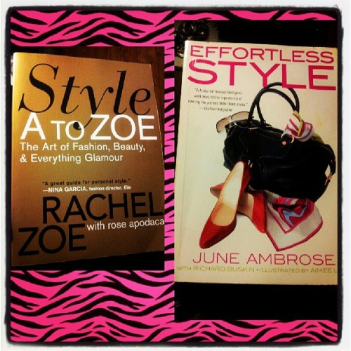 2of my fave fashion books by 2 women I love and respect in the fashion industry @juneambrose @rachelzoe ….. Much #love and #Respect  to both u ladies I hope to be where u are some day  :-) thank you to @duncan_diva for buying me these for my birthday #loveyou  :-*