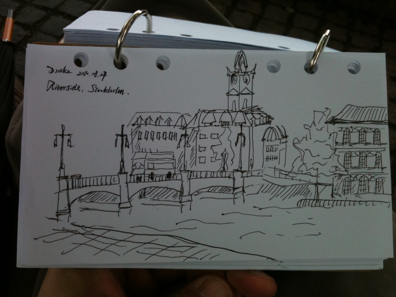 Sketched while attending ESC 2010, Stockholm, Sweden