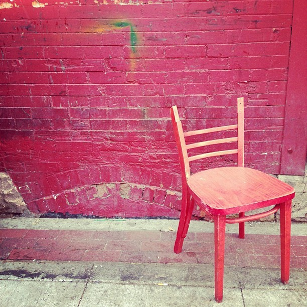 More red chair (at Conor O'Neill's)