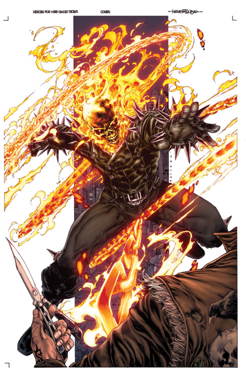 comicbookartwork:  Ghost Rider By Harvey Tolibao