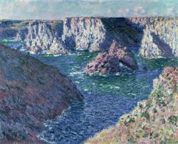 art monet impressionism Claude Monet impressionist art Rocks at Belle Ile 1886  Claude Monet