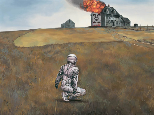 astronautdinosaur:  Wyeth's World by Scott Listfield.