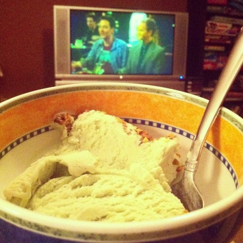 Pistachio gelato, How I Met Your Mother and homework.