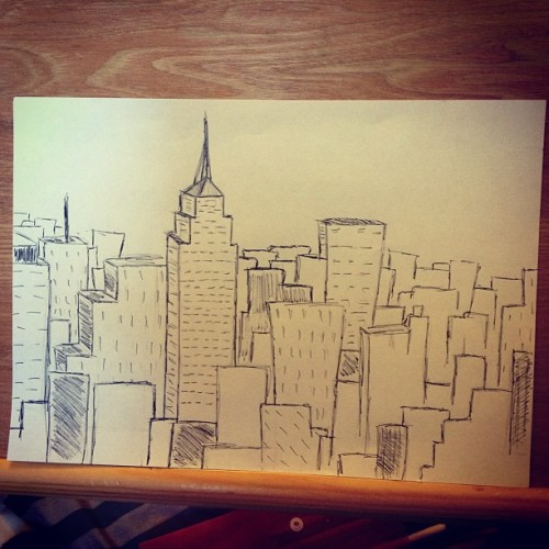 Boredness results in New York doodles #newyork #nyc #art