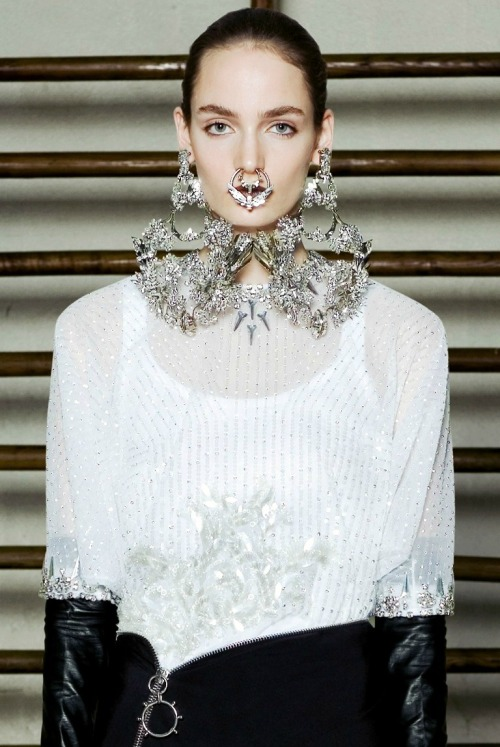 Zuzanna Bijoch at Givenchy haute couture s/s 2012